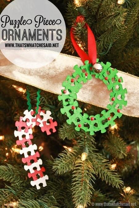 Manualidades Navidad Decoraciones Puzzle