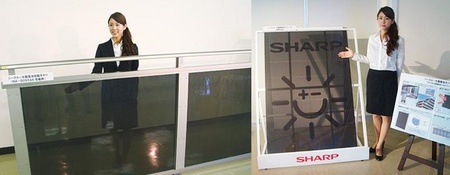Sharp desarrolla una nueva generación de paneles solares transparentes