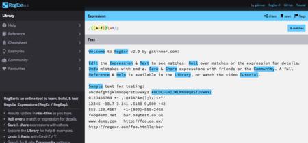RegExr, herramienta online para aprender y probar expresiones regulares