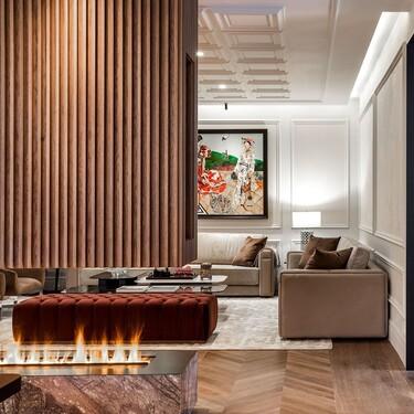 Calefacción por el techo, molduras, una chimenea de vapor... estas son las claves de un piso recién reformado en Claudio Coello