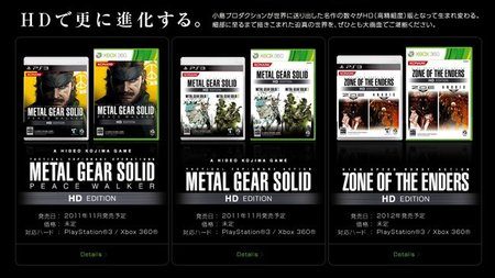 E3 2011: Konami anuncia reediciones HD de las sagas 'Metal Gear Solid' y 'Zone of the Enders'
