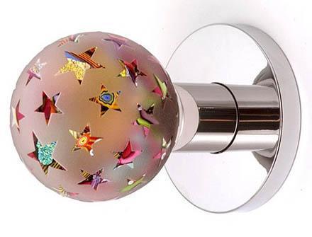 Pomos de cristal esféricos