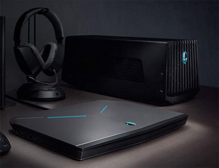 La solución de Alienware para añadir potencia gráfica a tu equipo es esta enorme caja