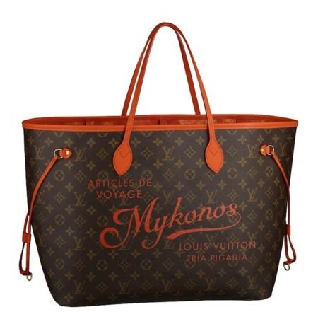 Viaja con Louis Vuitton y su nueva colección de bolsos Neverfull Mykonos