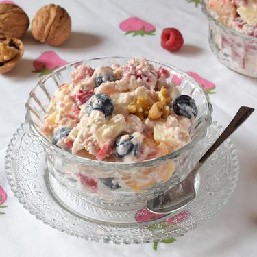 Bircher muesli suizo de avena, yogur y frutas: receta saludable que puedes adaptar al gusto