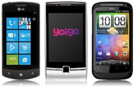 Precios LG Optimus 7 y HTC Desire S con Yoigo entre otras novedades