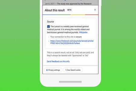 Google empieza a mostrar contexto e información sobre los resultados de las búsquedas