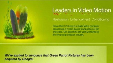 Google compra Green Parrot Pictures para mejorar los vídeos de YouTube