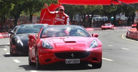 Dos heridos en la exhibición de Ferrari en Brasil