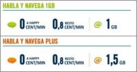 Happy Móvil añade minutos gratis entre clientes en las Habla y Navega de 1 y 1,5 GB