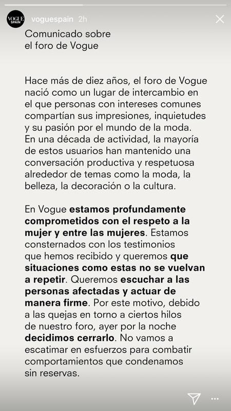 Vogue Cierra Foro