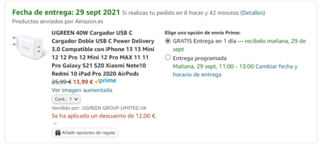 Oferta Cargador 40w Ugreen Whvg8gch 13 99 Euros