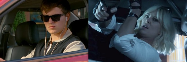Baby Driver y Atómica