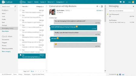 Outlook.com retira la carpeta con el historial de conversaciones y explica cómo salvarla