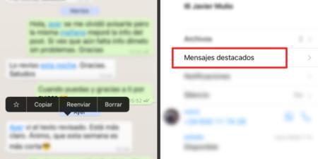 Whatsapp Mensajes Destacados Favoritos Ios