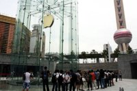 Ya podemos ver el aspecto final de la nueva Apple Store de Shangai