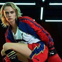 La colección Puma x Balmain con Cara Devigne como diseñadora invitada será el uniforme favorito de las que han caído rendidas al boxeo