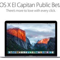 La primera beta de OS X El Capitan 10.11.1 llega al canal público