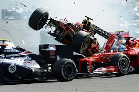 Grosjean Spa F1 2012