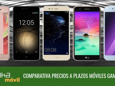 Mejores precios móviles gama media a plazos: Huawei P10 lite, Galaxy A5, Moto G5, bq Aquaris U y más