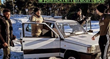 ¡Insólito! Carrasco hace de chófer del Atlético de Madrid por las nevadas con un Fiat Panda 4x4 prestado y sin papeles