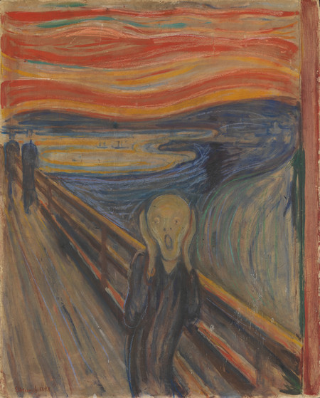 Edvard Munch 1893 The Scream Oil Tempera And Pastel On Cardboard 91 X 73 Cm National Gallery Of Norway