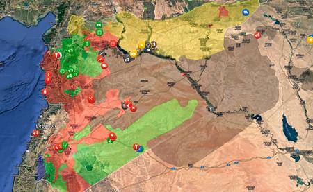 Estado Islamico Mapa Actual.Si Te Has Perdido En La Guerra De Siria Este Mapa Te Resume