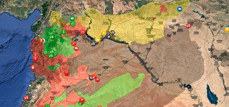 Si te has perdido en la guerra de Siria, este mapa te resume todo lo que ha pasado en un minuto