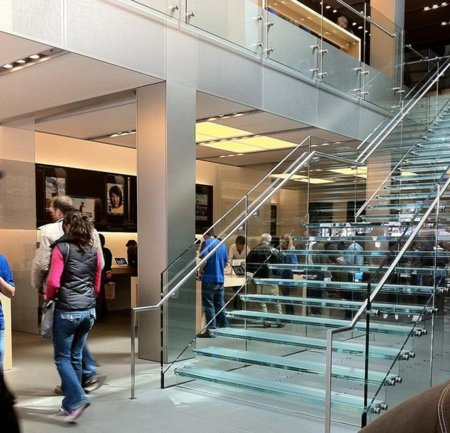 apple store flagship san francisco california escaleras entrada