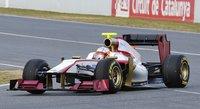 El HRT F112 ya rueda en pista