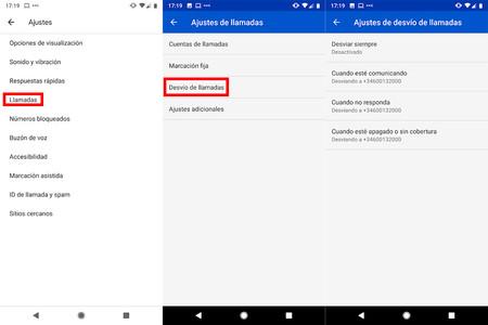 Android Desvio Llamadas