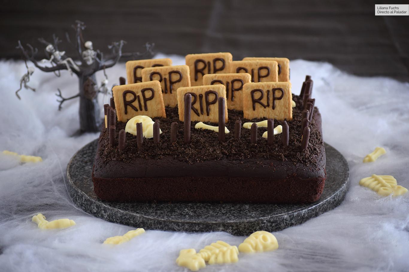 Tarta cementerio de chocolate: receta muy fácil para compartir en Halloween