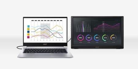 Acer estrena el PM1, su monitor portátil Full HD de 15,6 pulgadas para complementar tu ordenador o teléfono móvil