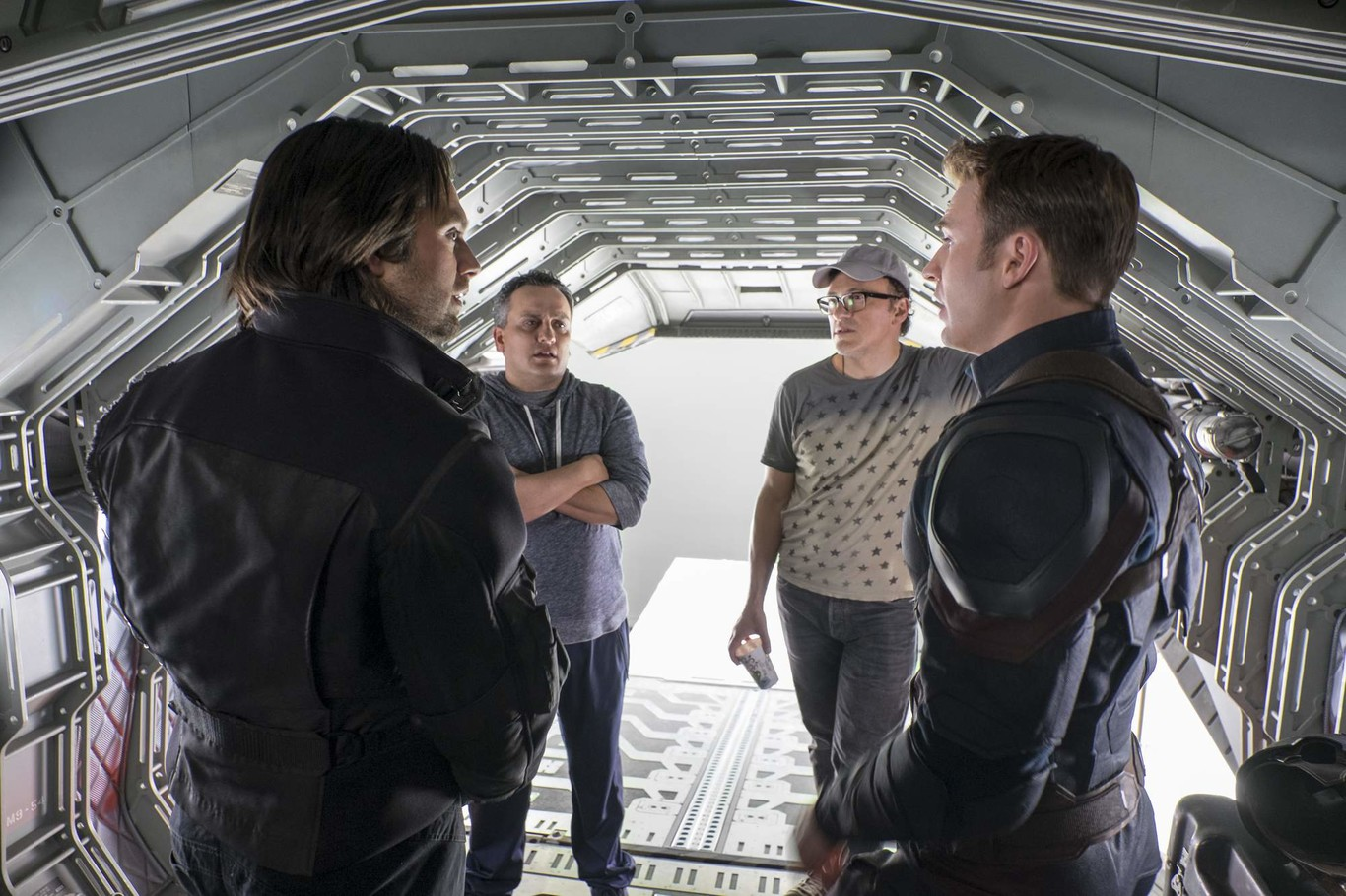 Joe and Anthony Russo on the set of Civil War