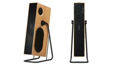 Este curioso altavoz promete sonido estéreo en la sala desde un único bafle