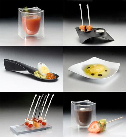utensilios desechables con un elegante dise o tast