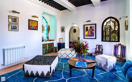 Airbnb Classic Blue Habitacion Con Terraza En Un Palacio En Tanger 2
