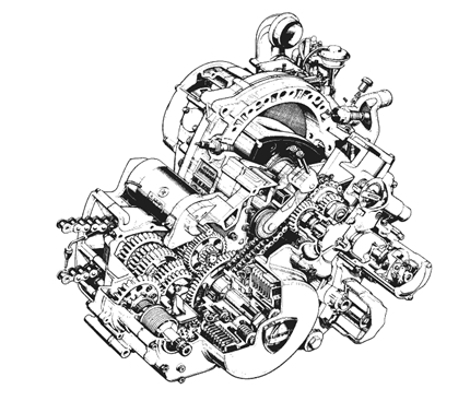 Un pequeño viaje por los motores rotativos en el motociclismo