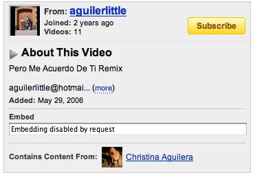 Mensaje YouTube