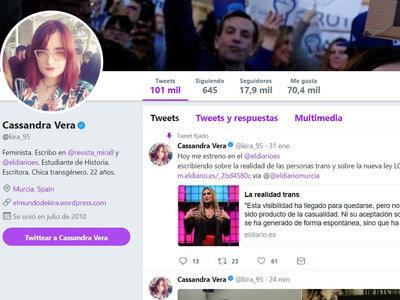 """Cassandra Vera absuelta: un """"chiste fácil y de mal gusto"""" relacionado con un atentado no vale un año de prisión"""