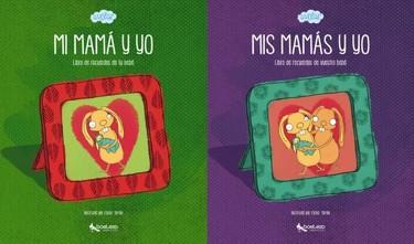 A Volar, libros de recuerdos del bebé para familias diversas