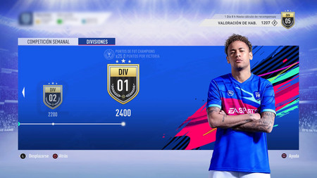 Guía FIFA 19.  Division Rivals: valoraciones y recompensas  del 5 al 12 de Octubre