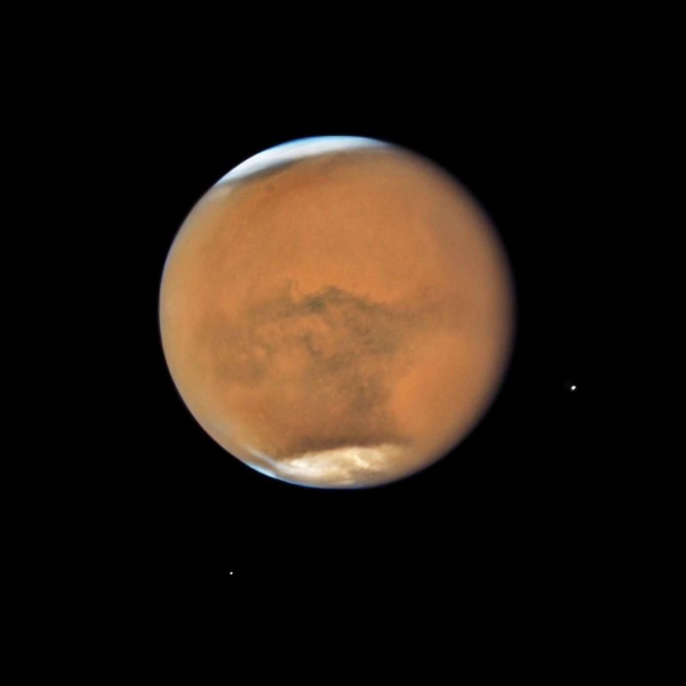 Marte está en su punto más cercano a la Tierra desde 2003 y lo podemos ver en vídeo