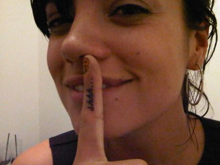 El nuevo tatoo de Lilly Allen ya lo habiamos visto