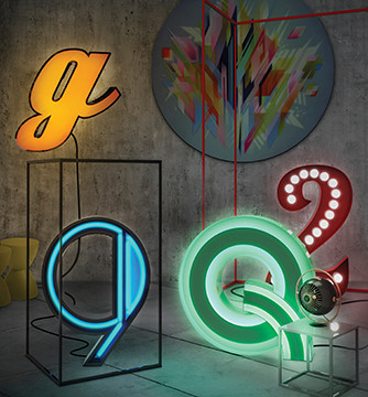 Letter Neon Graphic Lamp 01
