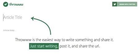 """Throwww, el """"más fácil imposible"""" para compartir artículos en internet"""