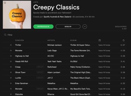 Lista Halloween Oscura