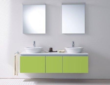 Muebles de Duravit con lavabos sobre encimera