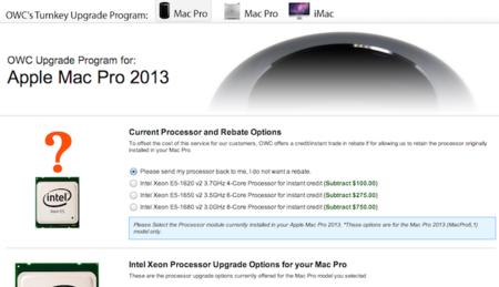 ¿Pensando en ampliar tu nuevo Mac Pro? OWC empieza a ofrecer sustituciones de procesador y memoria para el Mac Pro 2013