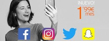 Con el nuevo Bono de Redes Sociales de Simyo, se acabó el quedarse sin datos para Facebook, Twitter, Instagram o Snapchat